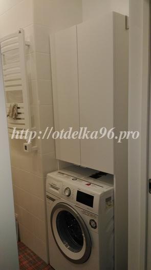 Сборка шкафа для ванной и установка стиральной машины Bosh