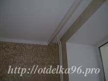 Монтаж потолочного плинтуса (без  шпаклевания и покраски) под тканевый натяжной потолок Clipso
