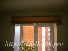 Установка шторы гармошки